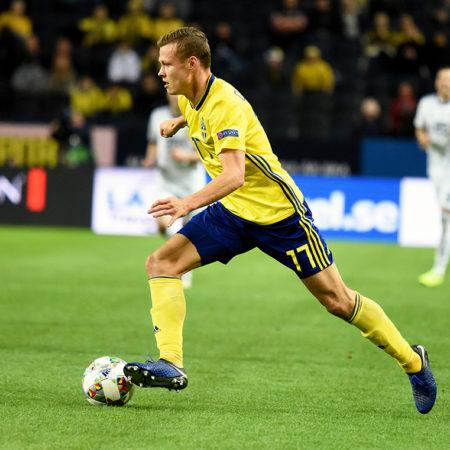 Viktor Claesson målskytt i 1-0 vinsten mot Georgien i VM-kvalet