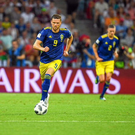 Marcus Berg säkrade svensk seger i vänskapsmatchen mot Armenien